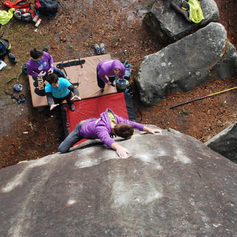 Cours de perfectionnement d'escalade avec Vertical Way