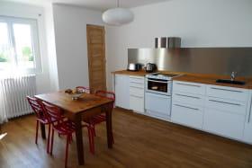 Meublé City Break à Vaulx-en-Velin (Métropole de Lyon) : séjour, espace cuisine.