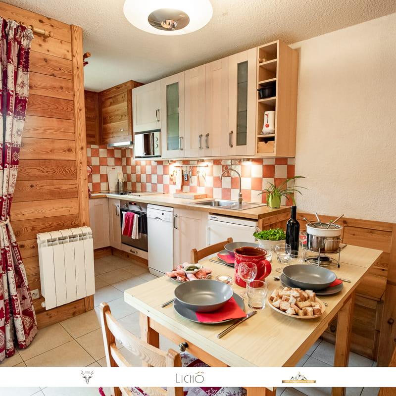 Appartement cosy et moderne au pied des pistes à Val Cenis Lanslevillard.