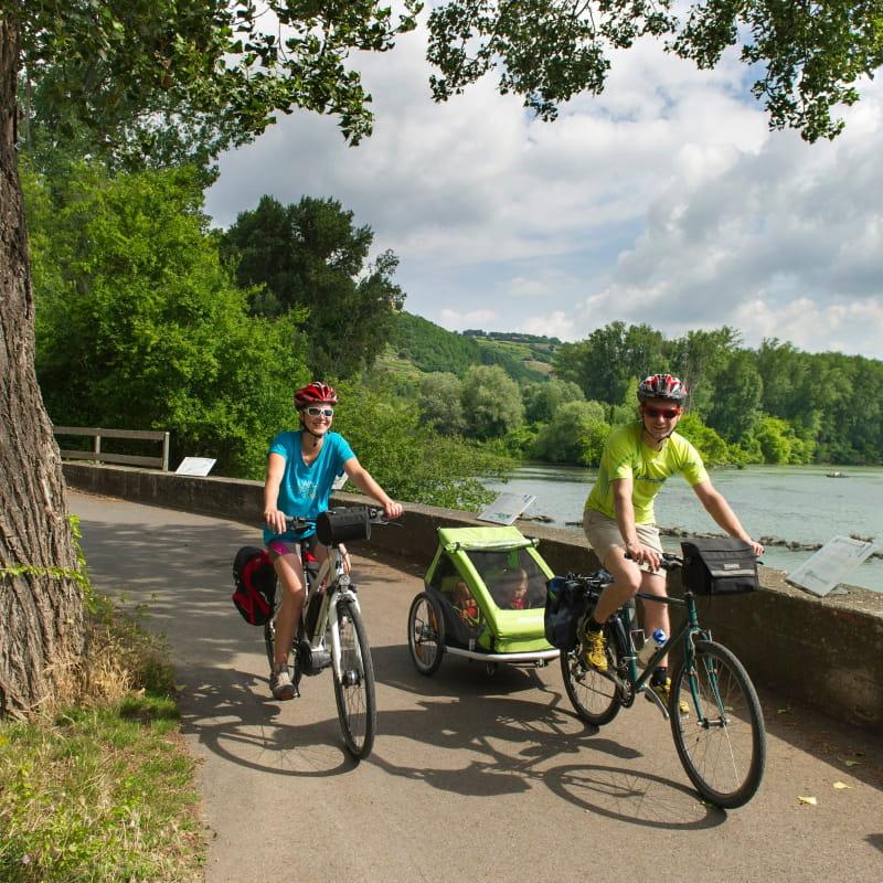 Vélo en famille autour de Condrieu et du Pilat Rhodanien