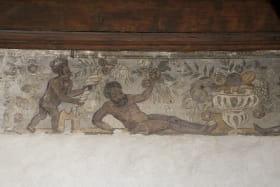Logis Nemours Château d'Annecy Musée lacs et montagnes, peinture murale, 16e siècle