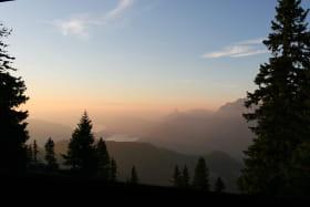 Vue coucher de soleil