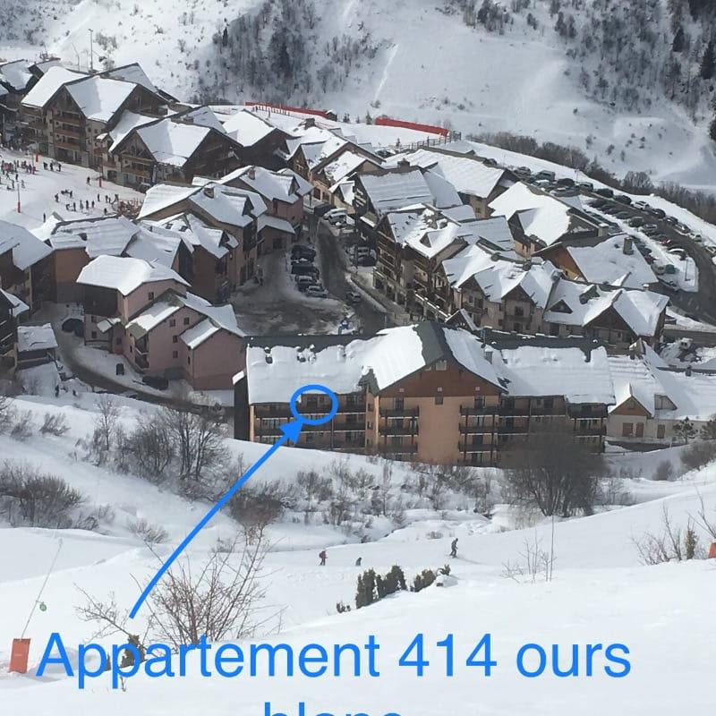 Appartement 6/8 personnes centre station Valmeinier 1800 avec place de parking , tv et wifi inclus