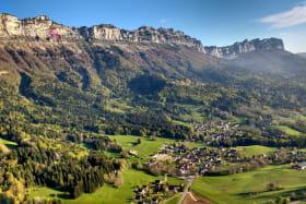 Vue du plateau des Petites Roches, haut lieu du parapente