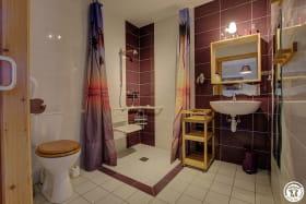 Salle d'eau de la chambre raisin
