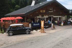 Terrasse restaurant au Lac des Plagnes