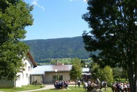 Une partie du parc, ses terrasses