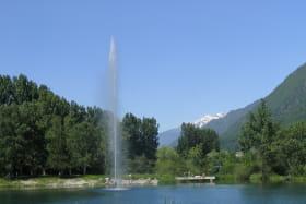 Jet d'eau Lac Bleu St Rémy de Maurienne