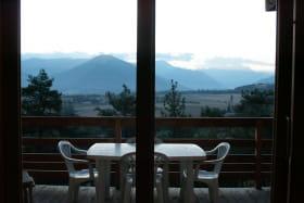 La terrasse depuis l'intérieur