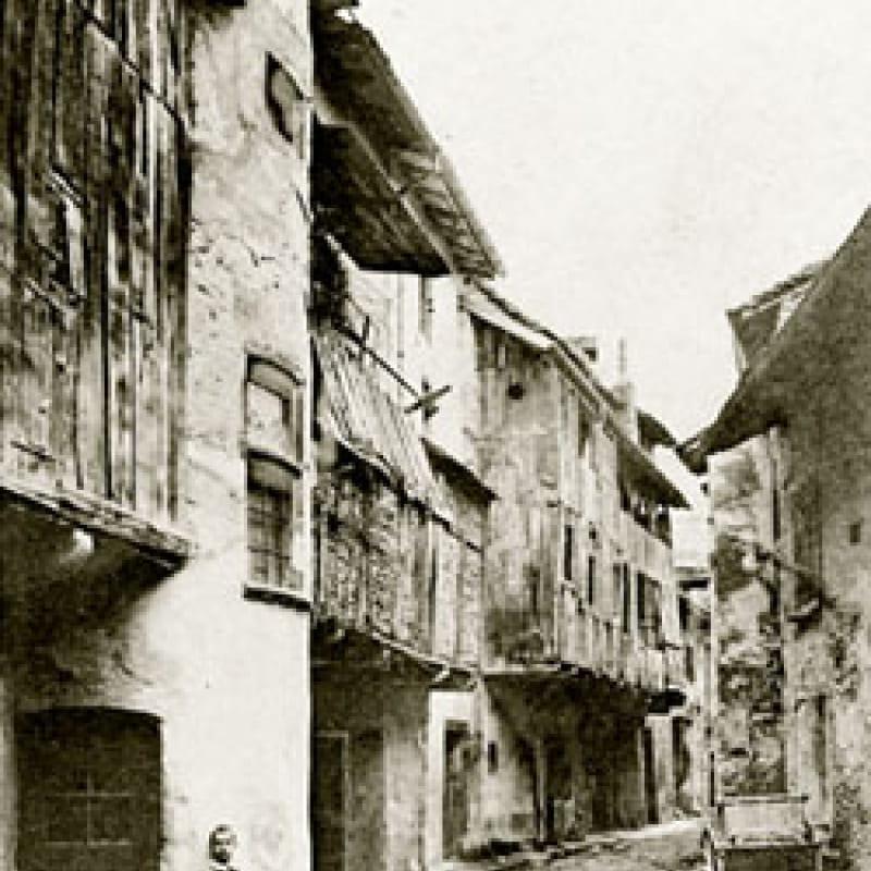 Vue ancienne de la rue des Adobeurs