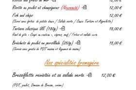 Carte Hiver à emporter : plats cuisinés et spécialités fromagères