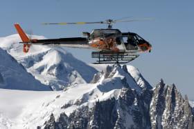 survol massif du mont-blanc hélicoptère