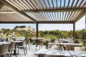 Terrasse couverte jusqu'à 100 personnes - Hôtel Ferme Chapouton