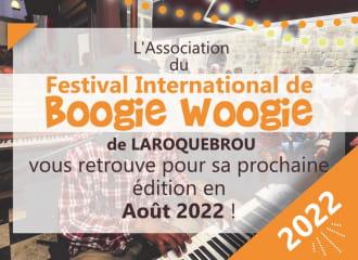 REPORT DE LA 22EME EDITION EN 2022 : Festival International de Boogie Woogie à Laroquebrou