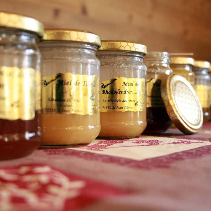 Pots de miel dégustation