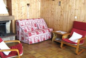 séjour : coin salon canapé convertible