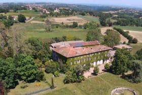 Prise de vue à partir d'un drone du Domaine du Peyron
