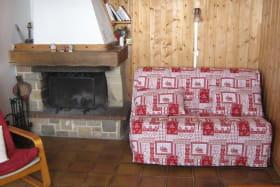 séjour : cheminée