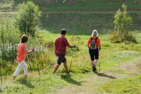 Marche nordique au lac Genin