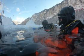 plongée sous glace au lac