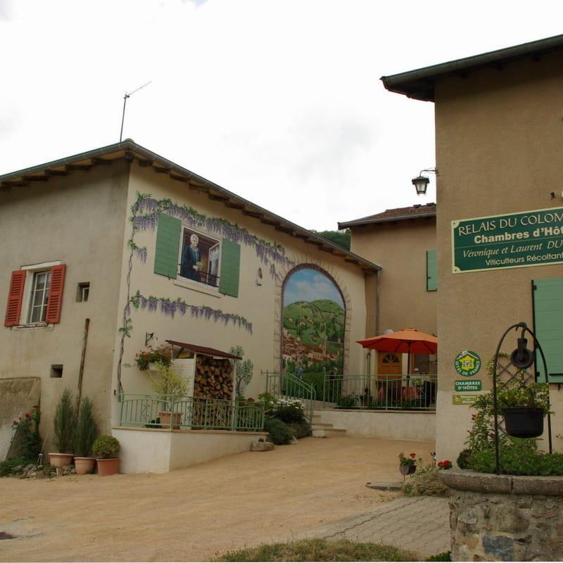 Chambres d'hôtes 'Le Relais du Colombier' à Marchampt (Rhône - Beaujolais) : Bienvenue ! AU RELAIS DU COLOMBIER