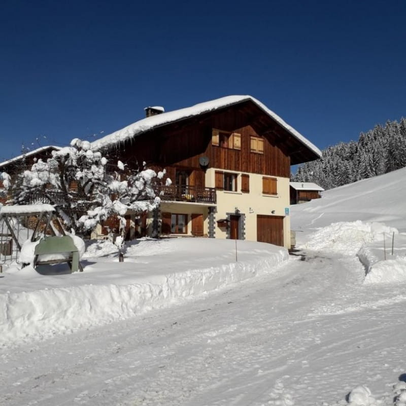 Bienvenue dans le Gîte Les Chevreuils...un quartier calme, une très belle vue face aux montagnes, un grand espace autour de la maison pour faire des bonhommes de neige...à 10 minutes du centre du village...un bon confort pour passer de bonnes vacances !