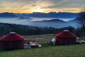 Camping Le Buisson - Yourte avec jacuzzi privatif