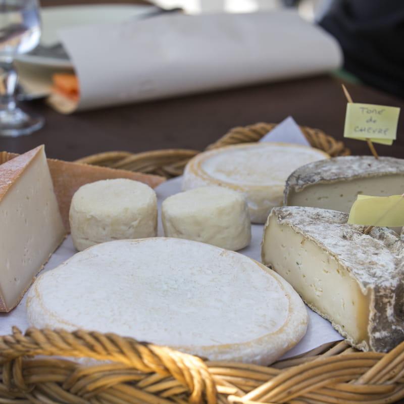 Plateau de fromages produits sur place