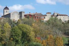 cité médiévale de Pérouges vue de loin