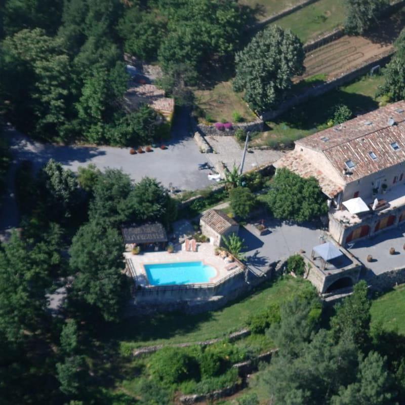 Vue aérienne d'une partie de notre domaine