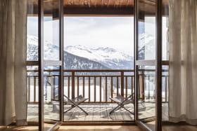 Balcon avec superbe vue sur le Mont-Pourri